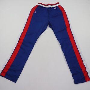 90s Champion Mens 34 Detroit Pistons Pants Blue